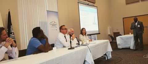 panel answering questions during event