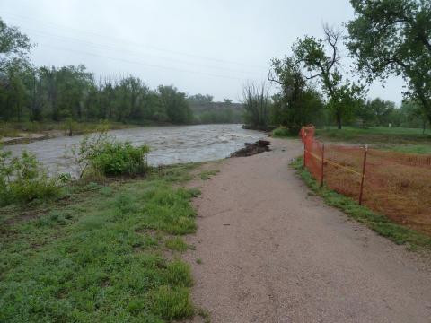 progress photo of greenway project